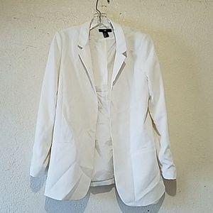 Women white Blazer Size us 12 eur 42
